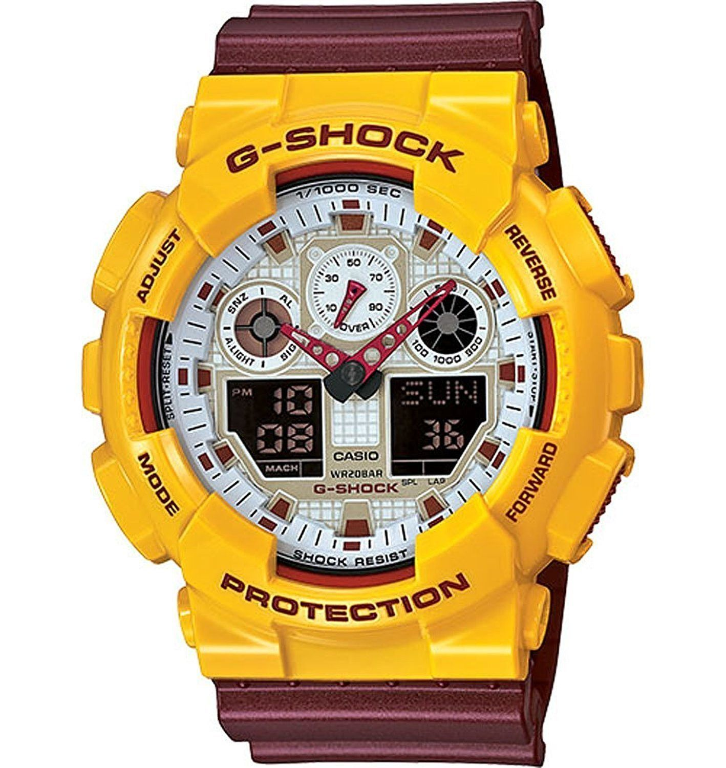 Casio G Shock Big Large Case Analog Digital Series Ga100cs 9a Camouflage Gd 120cm 4dr
