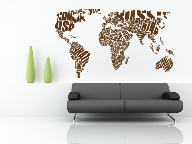 Word art world map better shapes no nz brody bedroom pinterest word art world map better shapes no nz brody bedroom pinterest wall sticker and walls gumiabroncs Image collections