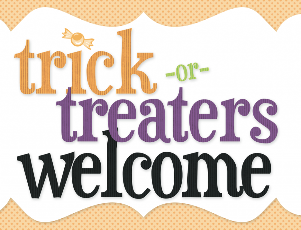 photo relating to Trick or Treat Signs Printable identify Auntie Lolo Crafts: Totally free Prints Wednesday. Halloween