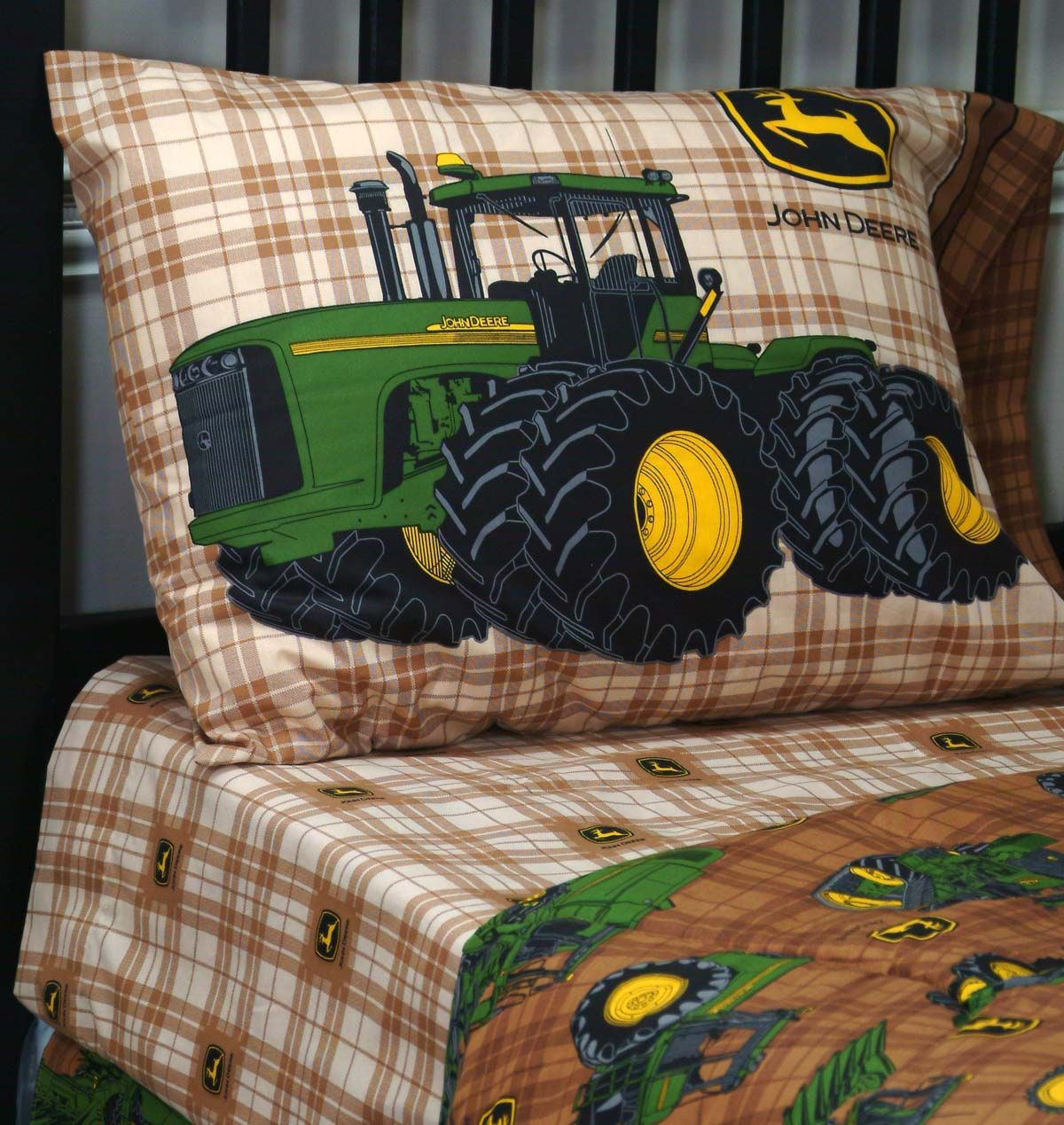 Bettwäsche Traktor John Deere John Deere Traditional 180 Count Twin Sheet Set 39x75x12