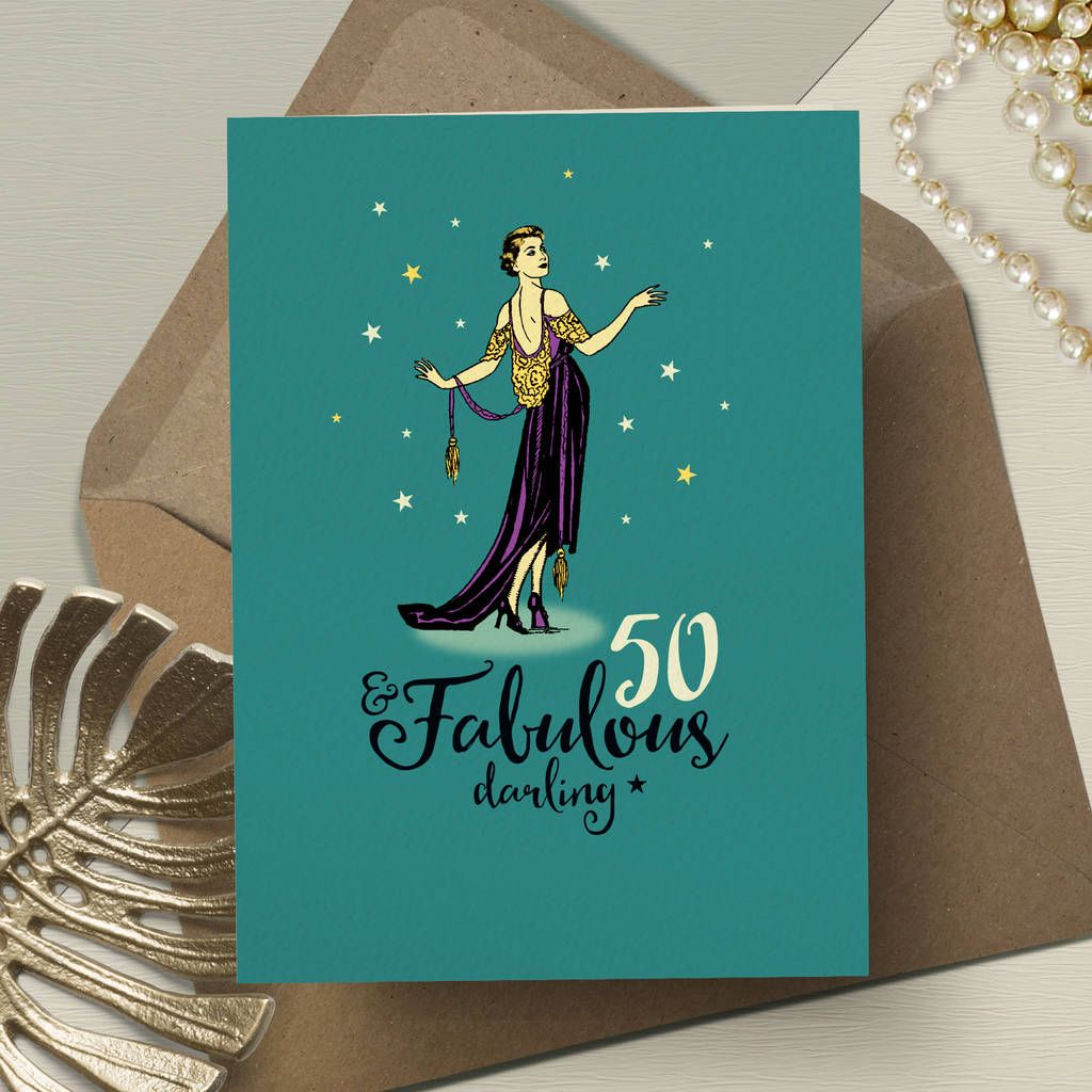 50th birthday card for her fabulous 50 in 2020 50th