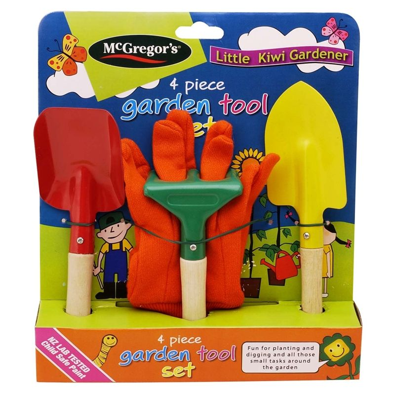 Mcgregor S Kids Garden Tool Set Gardening For Kids Garden Tool