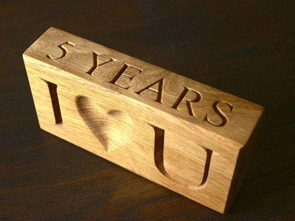 5 Year Wedding Anniversary Gifts Wood anniversary gift
