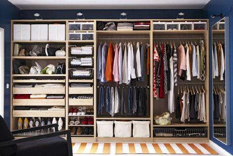 comment ranger son dressing nos astuces maison deco bedroom cabinets closet layout. Black Bedroom Furniture Sets. Home Design Ideas