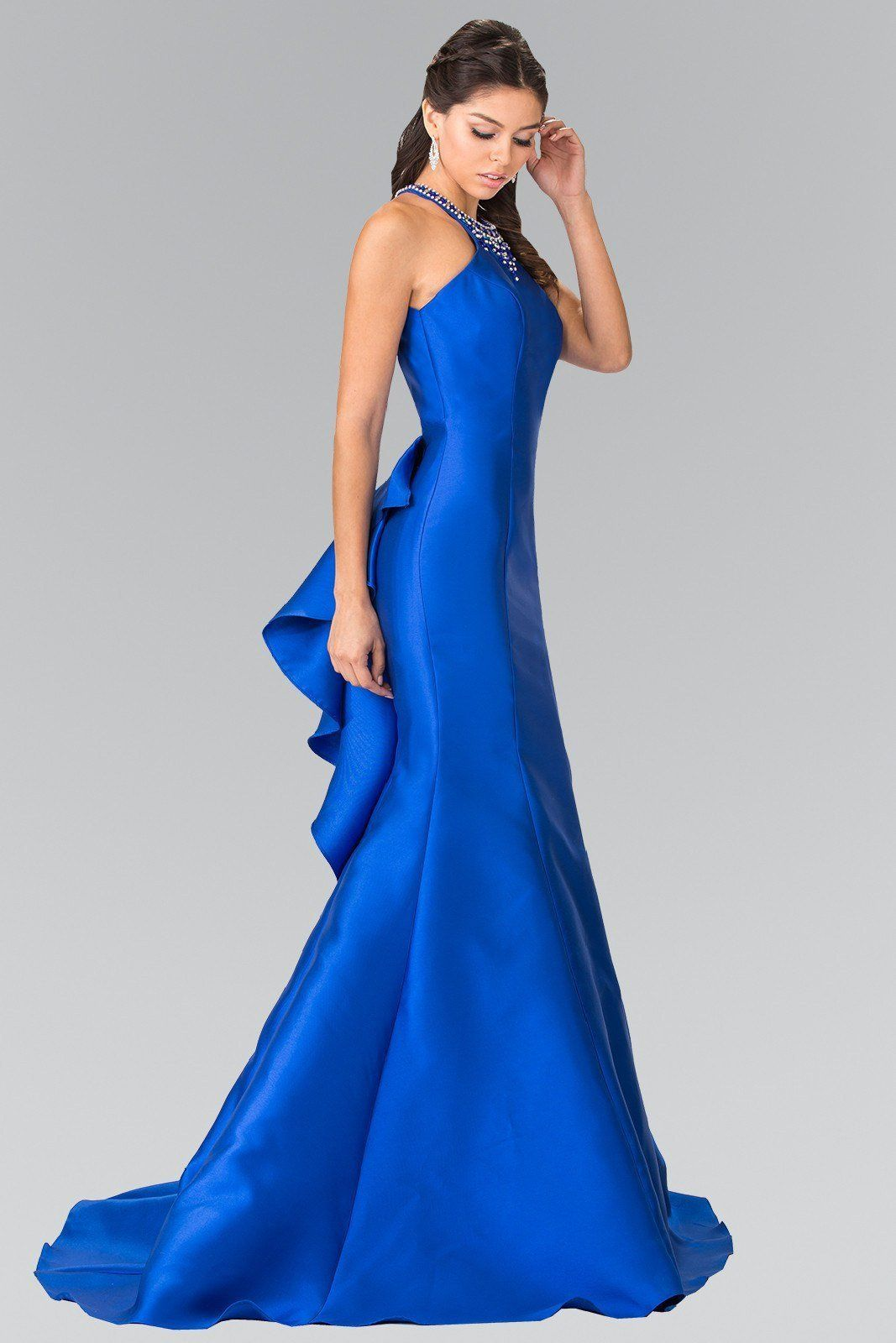 Mermaid satin prom dress gl in blue styles pinterest