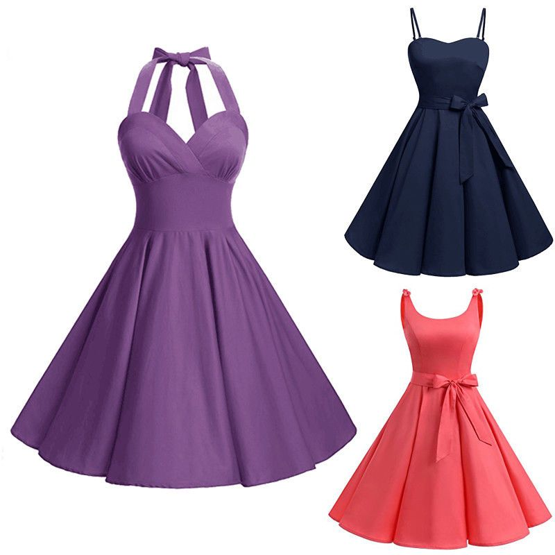 $6 AUD - Women Retro Vintage 50S Rockabilly Bowknot Swing Party Prom ...