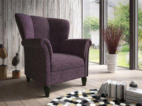 Schöner Hochlehnsessel im Landhausstil, der garantiert zum neuen - Wohnzimmer Braunes Sofa