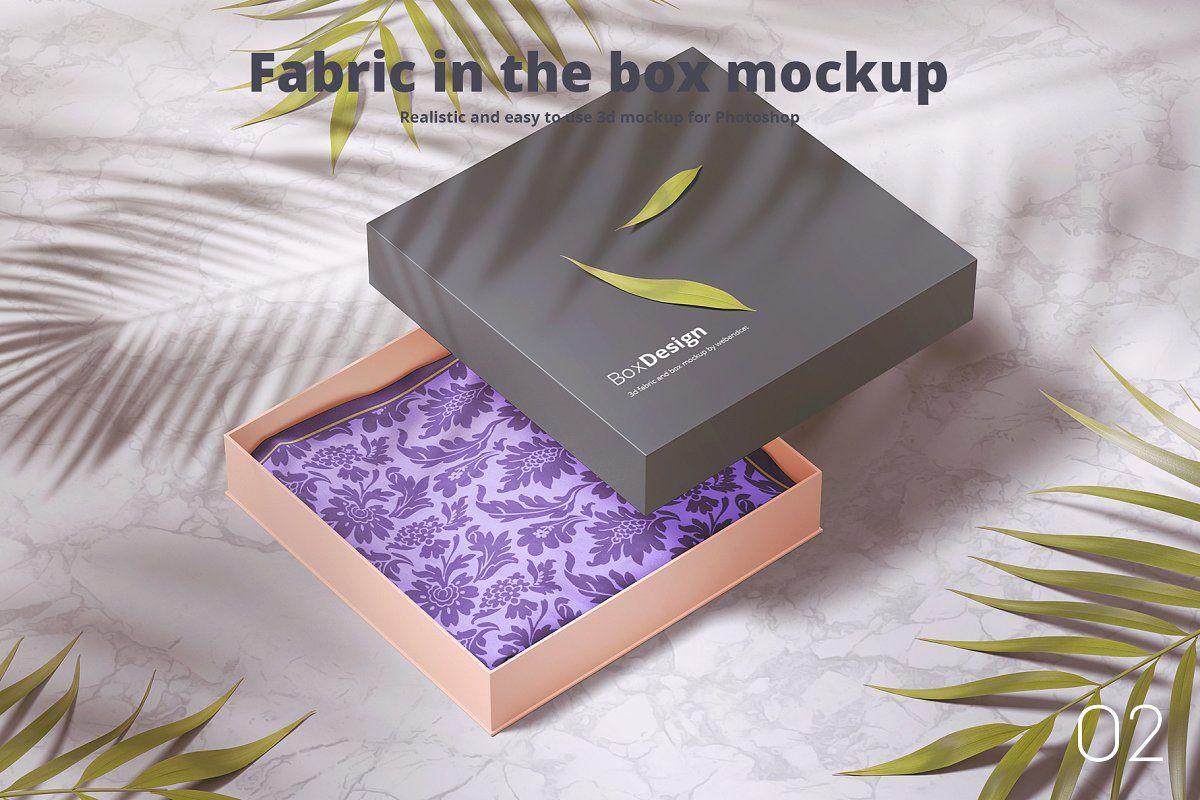 Download Fabric In The Box Mockup In 2020 Box Mockup Mockup Photoshop Design