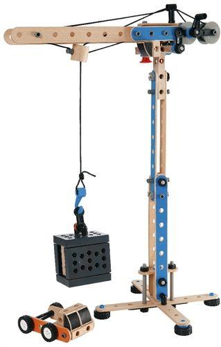 Brio Builder Toy Crane Wooden Building Blocks Wood Toys
