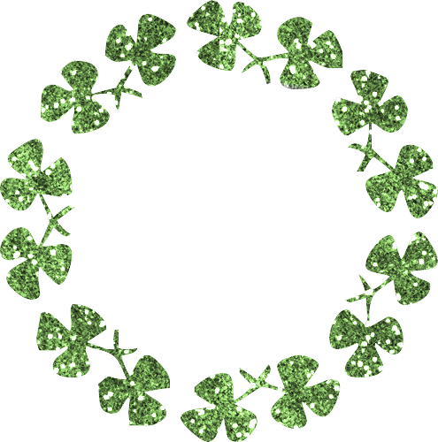 Four Leaf Clover Graphic Animated Gif