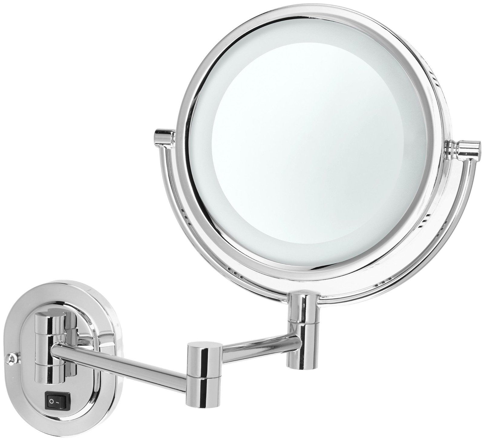 Jerdon Lighted Wall Mirror Direct Wire Only Chrome Lighted Wall Mirror Wall Mounted Makeup Mirror Makeup Mirror With Lights