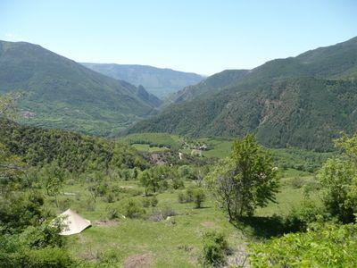 Spanje Pyreneen Sort Kamperen Bij Borda Castel Kleine Camping