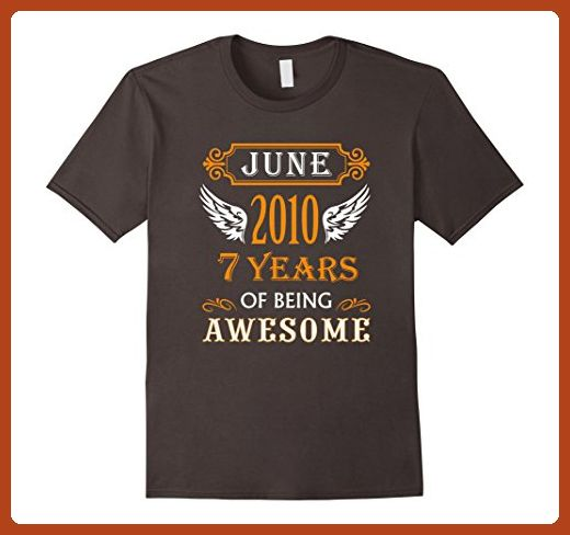 Mens 7 Years Old Kid T-Shirt Gift Idea Birthday Made in June 2009 3XL Asphalt - Birthday shirts (*Partner-Link)