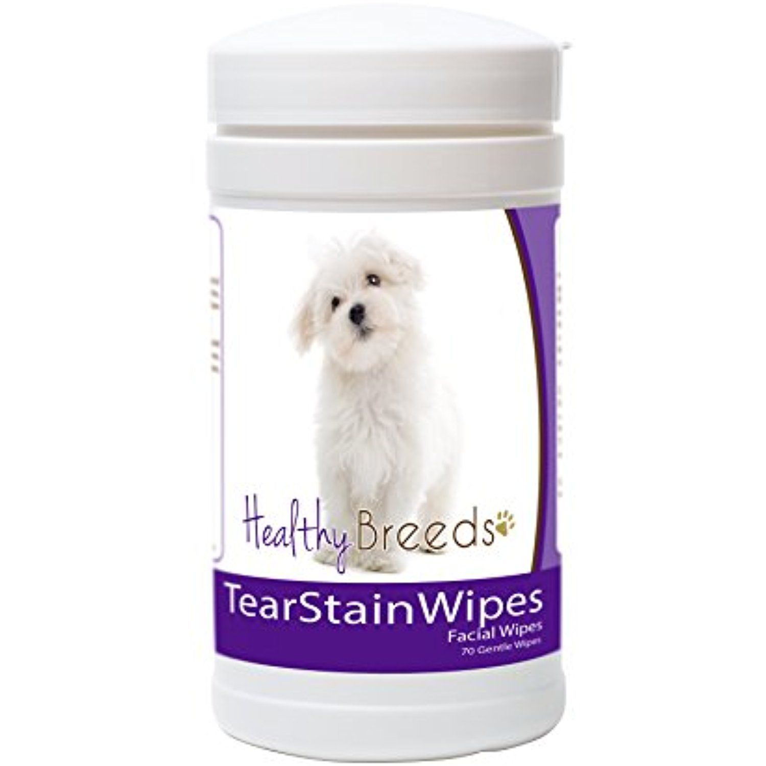 Healthy Breeds Dog Tear Stain Remover Wipes For Maltese Facial