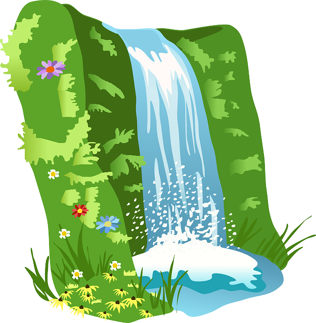ingyenes k p a pixabay en v zes s v z term szet fekv clip art rh pinterest ca waterfall clip art free waterfall clipart images