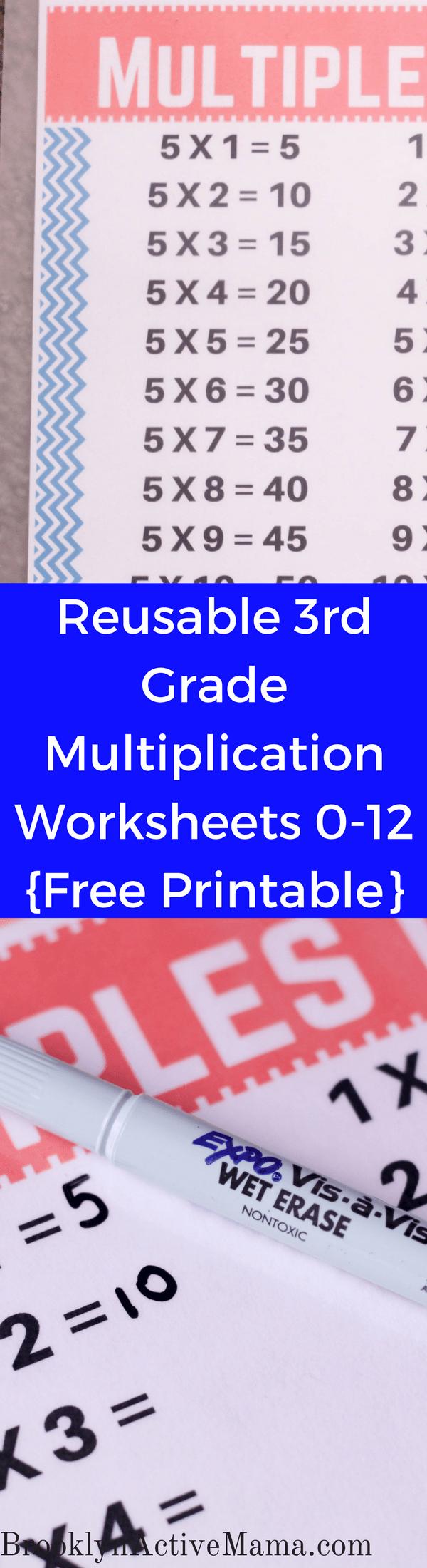 Reusable Third Grade Multiplication Worksheets - Free Printable ...