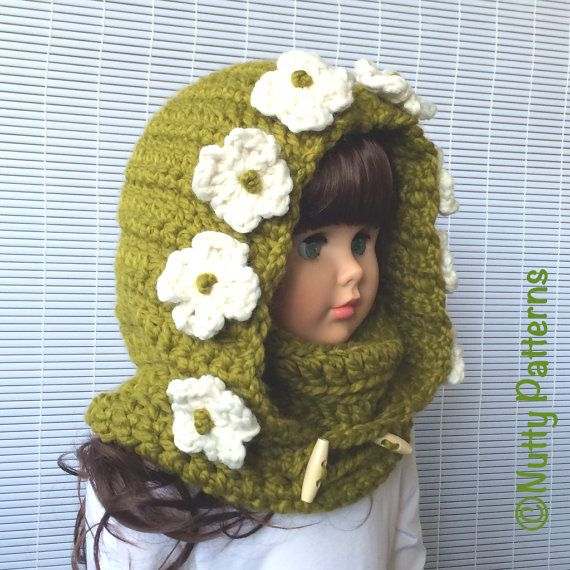Crochet Patterns * Montana Hooded Cowl * Instant Download Pattern ...