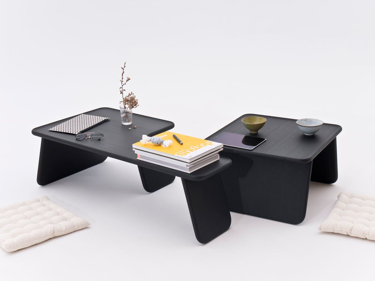 Bento Tray Low Stacking Tables Inspired By Asian Floor Culture