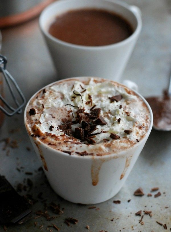 varm choklad med nutella