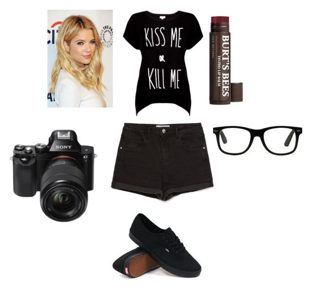 """""""Nikki's outfit"""" by arianaeaton on Polyvore featuring Rotten Roach, Zara, Vans, Burt's Bees and Sony"""
