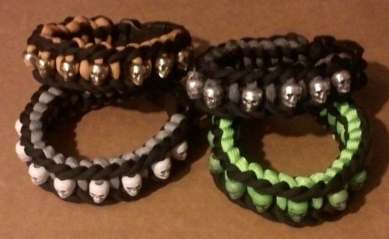Paracord Bracelets With Skull Beads Paracord Bracelets Paracord