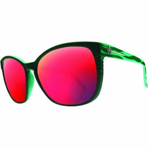 b5e1692ad7 Electric Visual Rosette Sunglasses - Electric Visual Women s Designer  Eyewear - Coral Green Grey Plasma Chrome by Electric