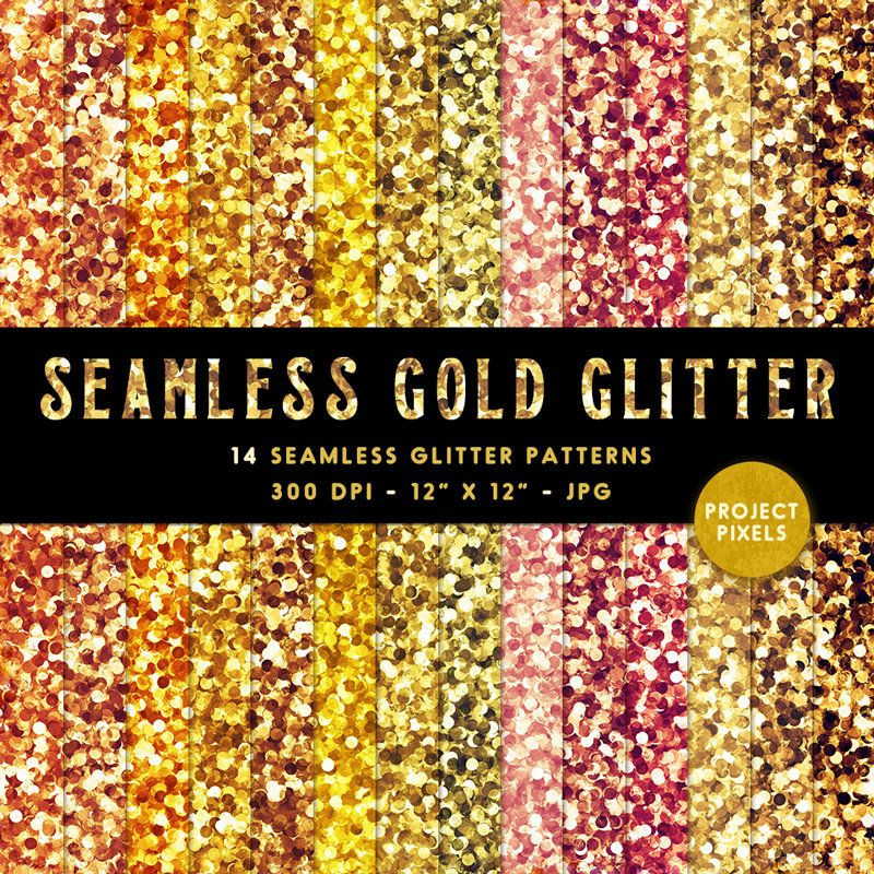 Seamless Gold Glitter Patterns, Chunky Gold Glitter Digital Paper, Glitter Background, Glitter Textures, Design Elements, Digital Download #goldglitterbackground