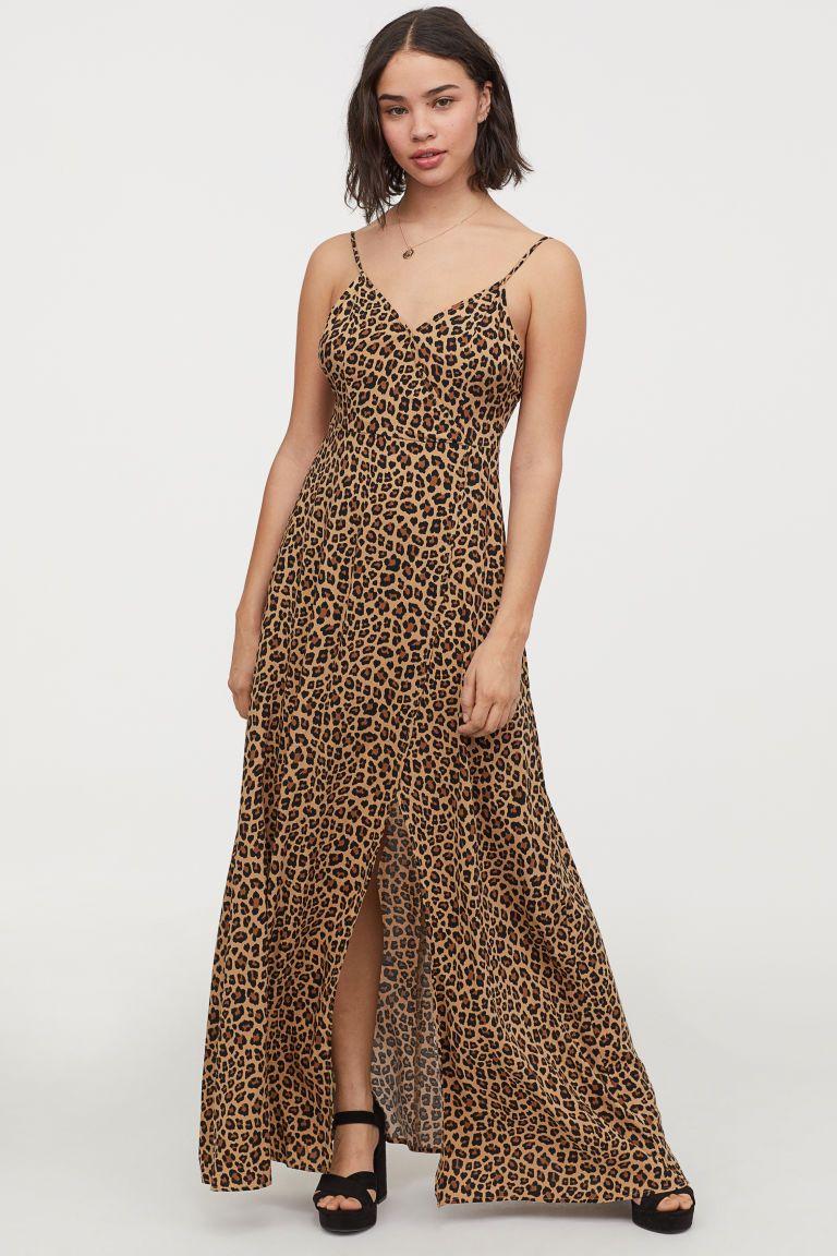 24f0219445 H&M V-neck Maxi Dress - Black in 2019 | Dress me | Dresses, V neck ...