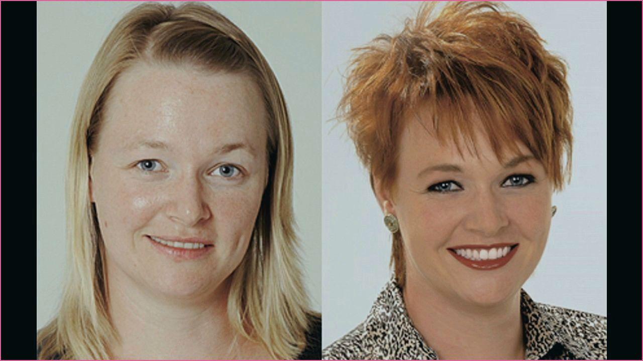 Frisuren Fur Frauen Um 50 Vorher Nachher Frisuren Kurzhaarfrisuren Frisuren Rundes Gesicht