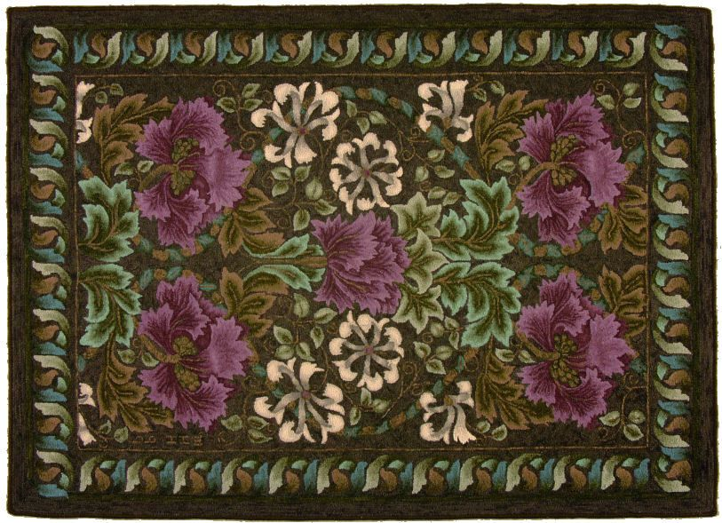 Hooked Rugs William Morris Designed By Jane Mcgown Flyn