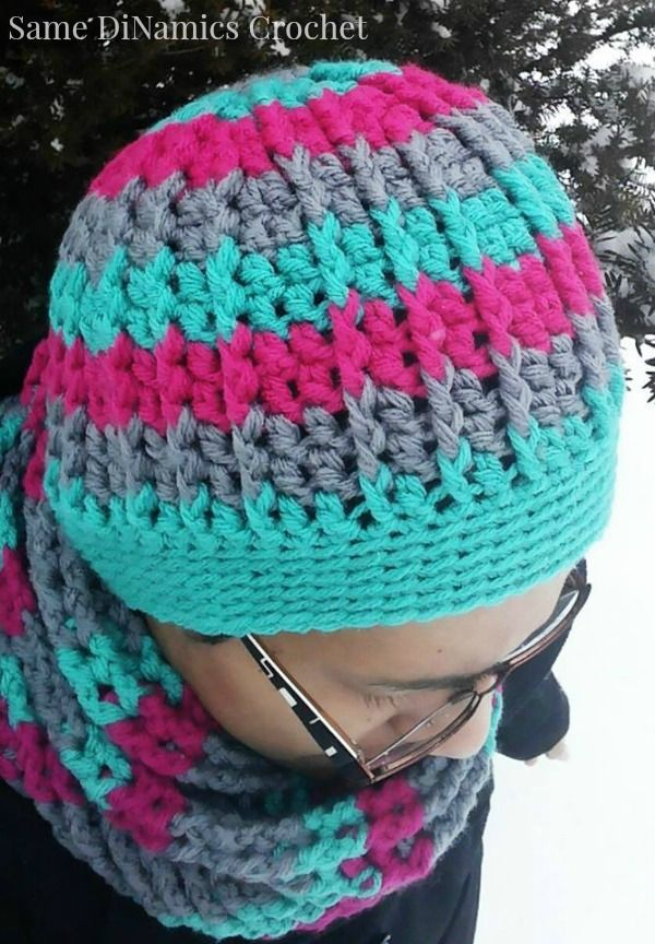 Cables And Stripes Free Crochet Hat Pattern Crochet Ideaspatterns