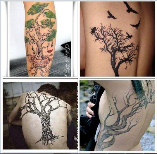tatouage,arbre,dorsal,avant,bras,sein,dos,homme,femme (537×529)