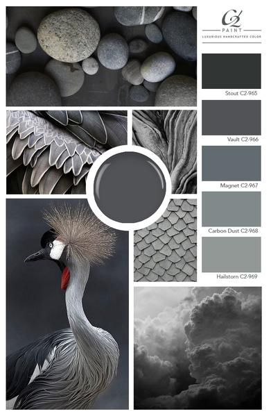 Gone are the standard greys of the past decade. With a fresh focus on the undertones, greys are presenting themselves as soft lavenders, blues, greens and bold, nuanced tones that are refreshingly modern. ⁠#design #home #grey #color #decorating