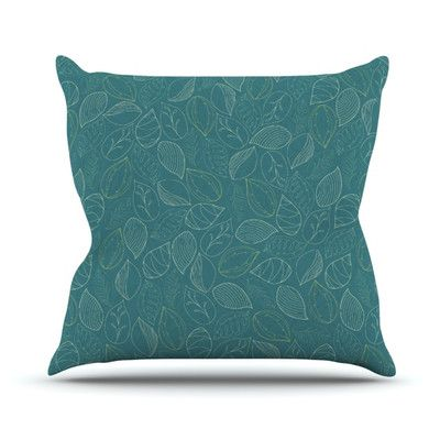 East Urban Home Autumn Leaves Outdoor Throw Pillow