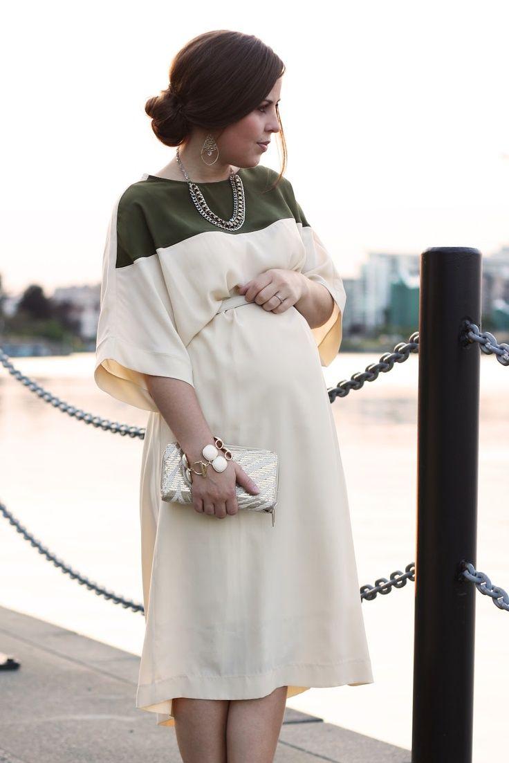 draped cream dress, dressez Nd stylez for babybumps