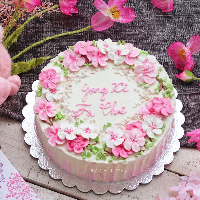 Chinese New Year Flower Cake Cake Sheet Cake Beautiful Cakes