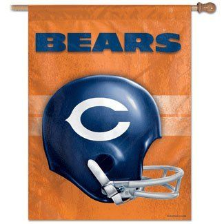 Chicago BEARS NFL Retro HELMET FLAG or Banner New by WinCraft. $19.99. Unisex Adults. Officially Licensed Bears Gear. 27 Inches x 37 Inches. Polyester. Machine Washable-Single Sided. The Chicago Bears NFL Retro Style Helmet Flag or Banner. This large flag measures 27x37 inches.  Features: Fade Resistant nylon fabric, Will not crack or split, pole not included, use outdoors, or as indoor banner. This flag is a perfect gift for the sports fan in your life.. Save 26% Off!
