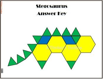 Pattern Blocks Dinosaur Puzzles  Dinosaur Puzzles Pattern Blocks