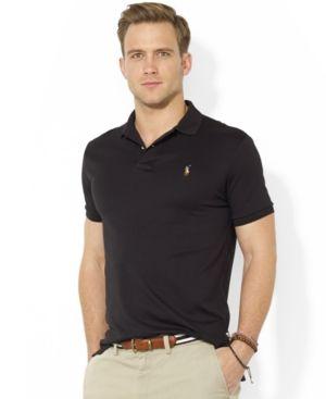811f4b14bffa Polo Ralph Lauren Men s Pima Cotton Soft-Touch Polo - Black XXL ...