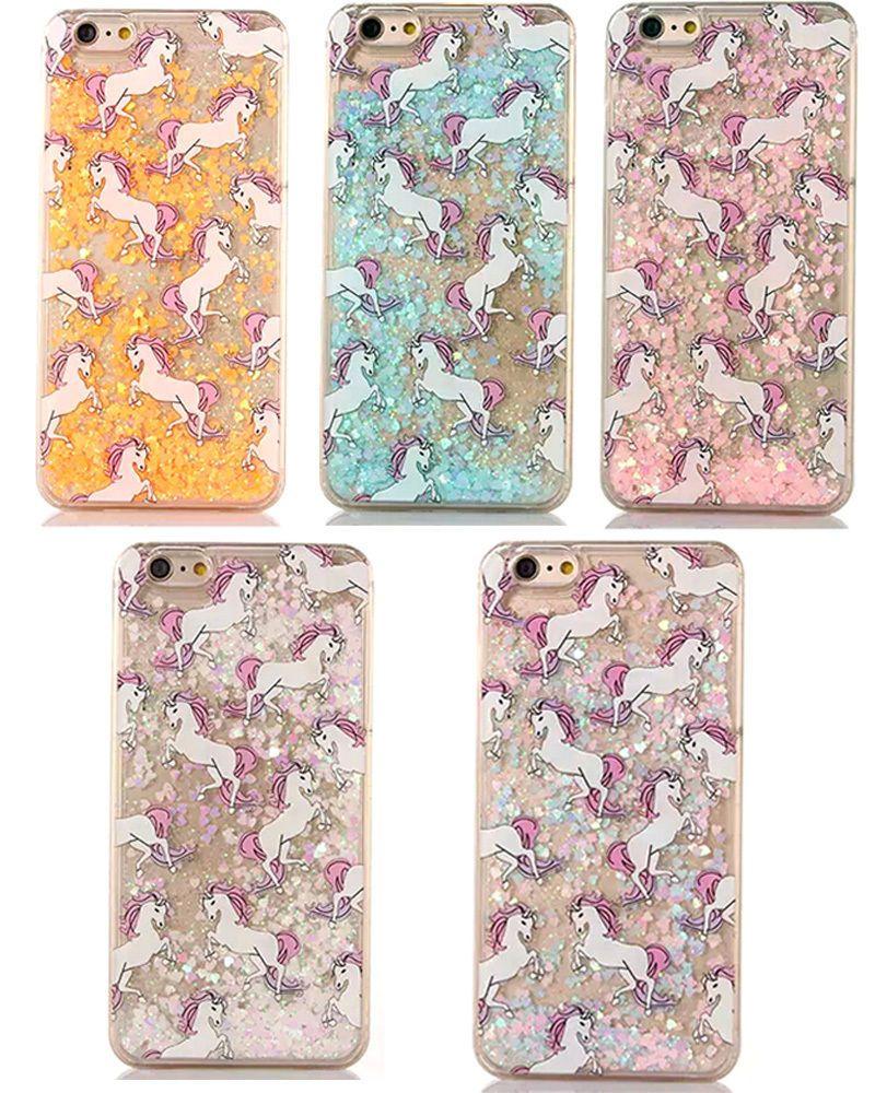 Case For IPhone 5s IPhone 5 Cover Cute Unicorn Glitter Liquid