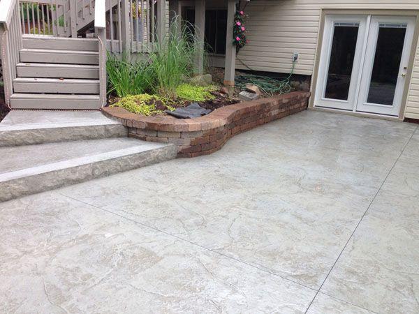 Walkout Basements Deck Walkout Basement Patio And Steps Leading To Deck Concrete Patio Patio Backyard Patio