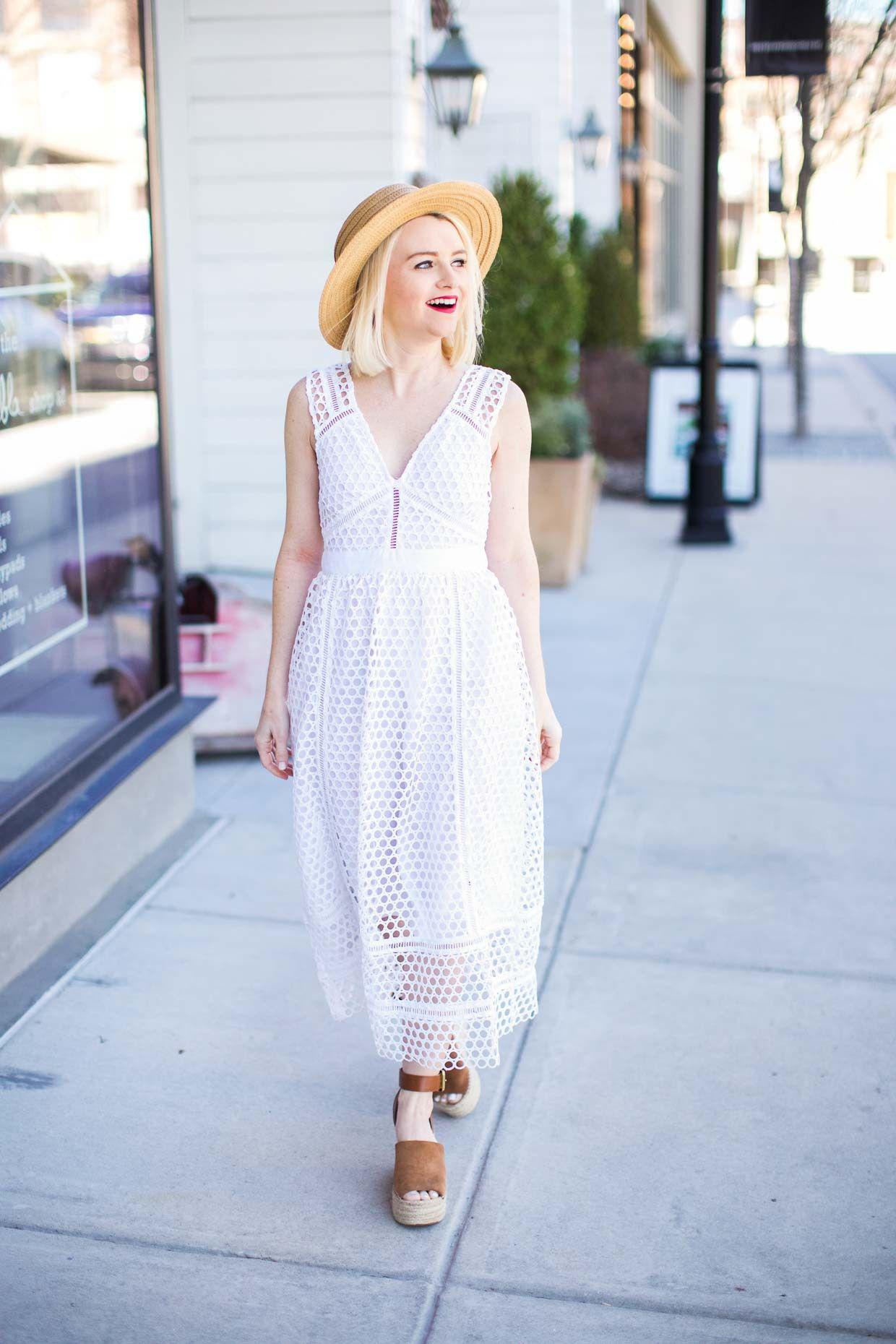 be14f25e66c9 Abercrombie White Lace Midi Dress