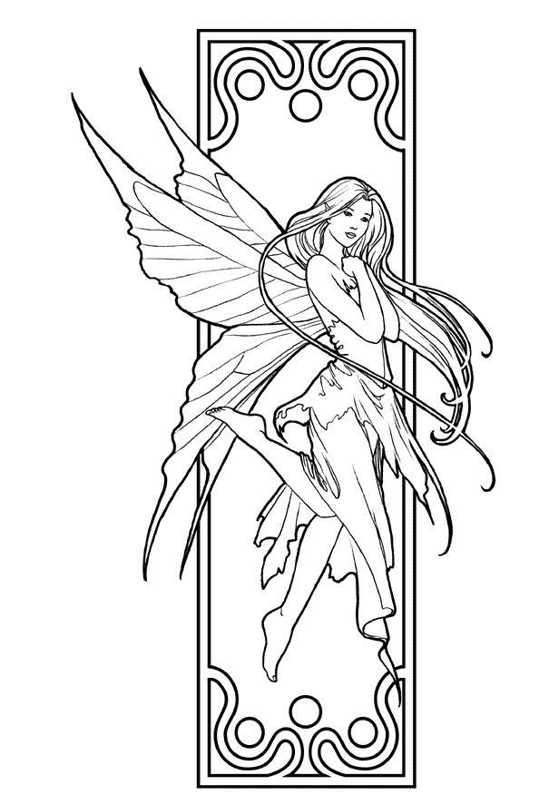 Beautiful Girl Fairy Coloring Pages | Coloring pages for ...