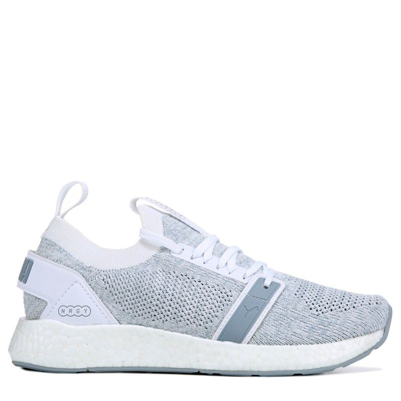 Puma Women s Nrgy Neko Engineered Knit Sneakers (White   Quarry ... 092e19c4e