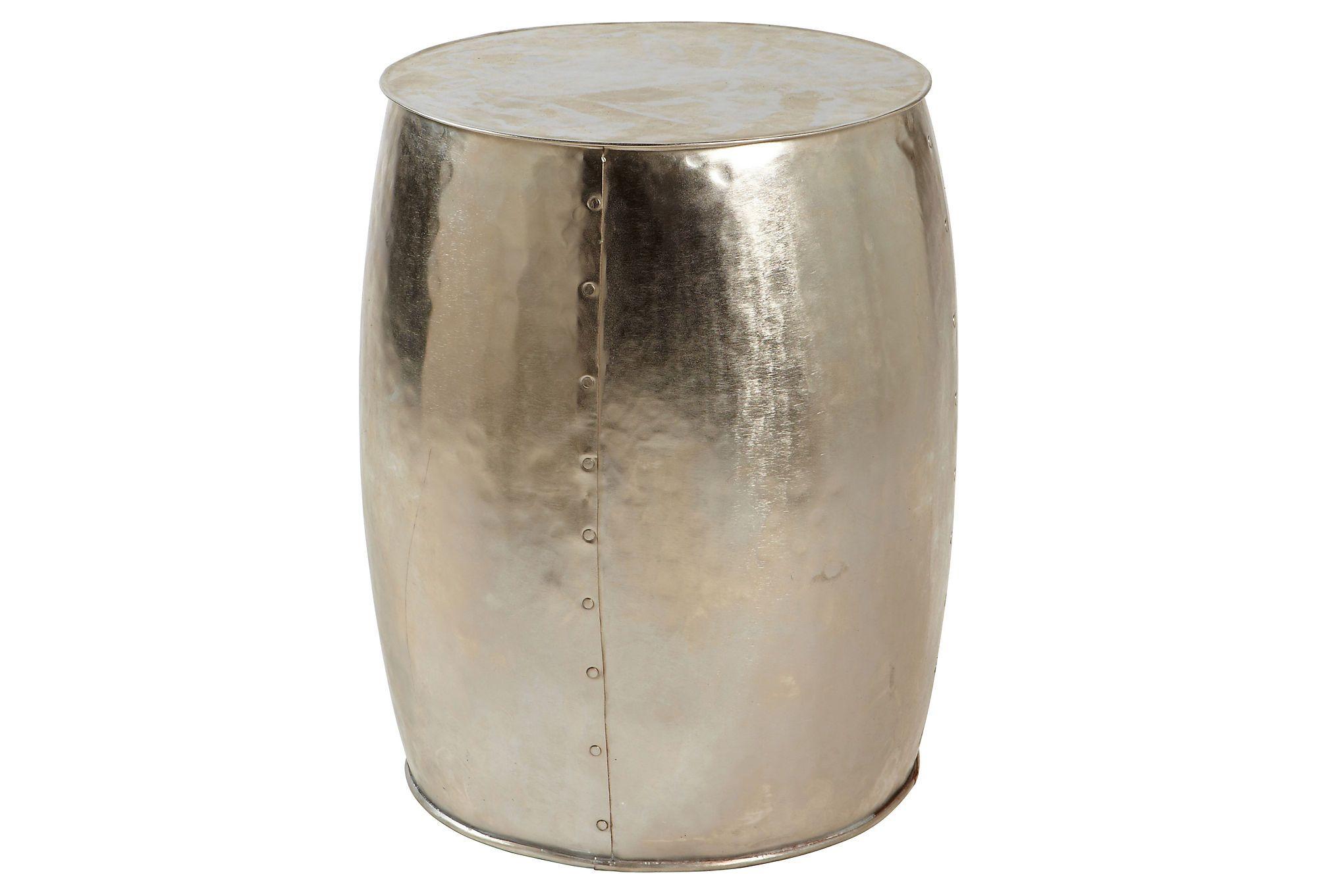 $159 One Kings Lane - Modern Furniture - Iron Nickel Round Stool
