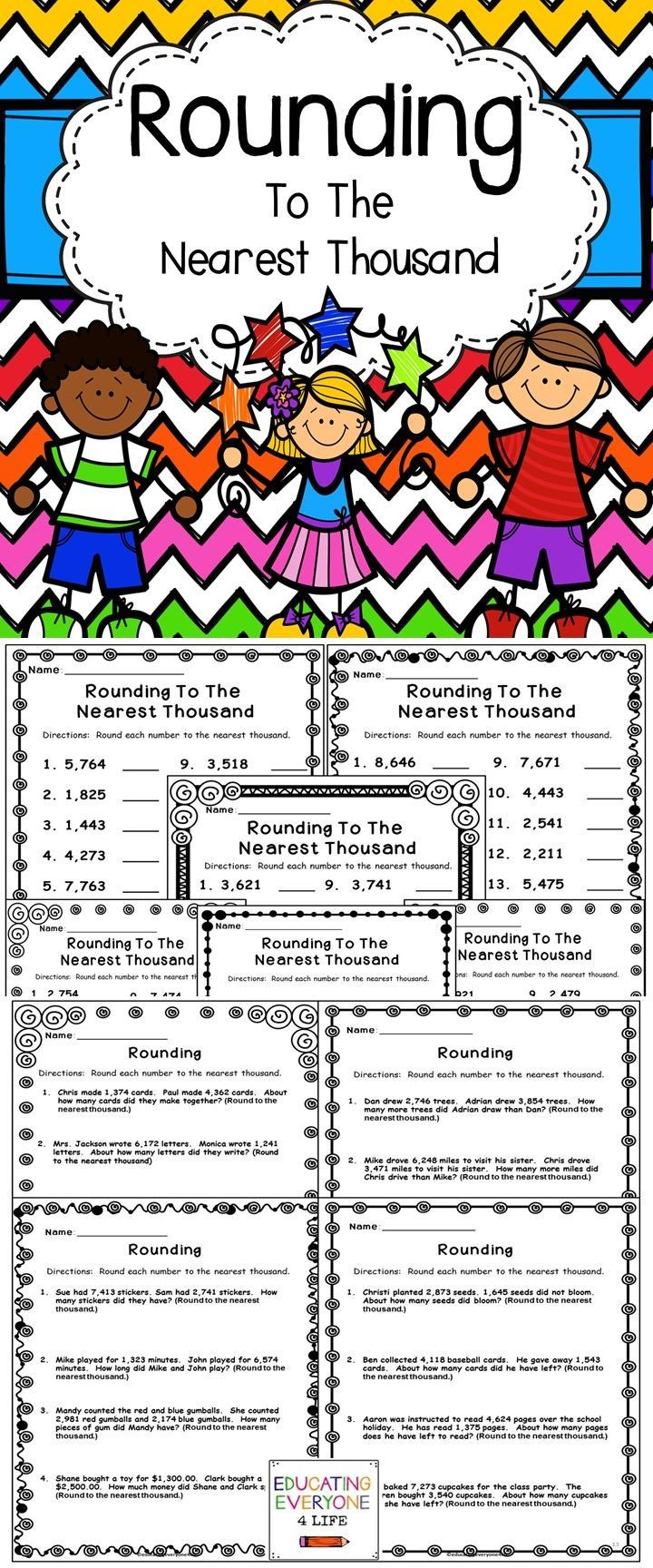 Rounding Numbers Pinterest Math Resources Math Activities And