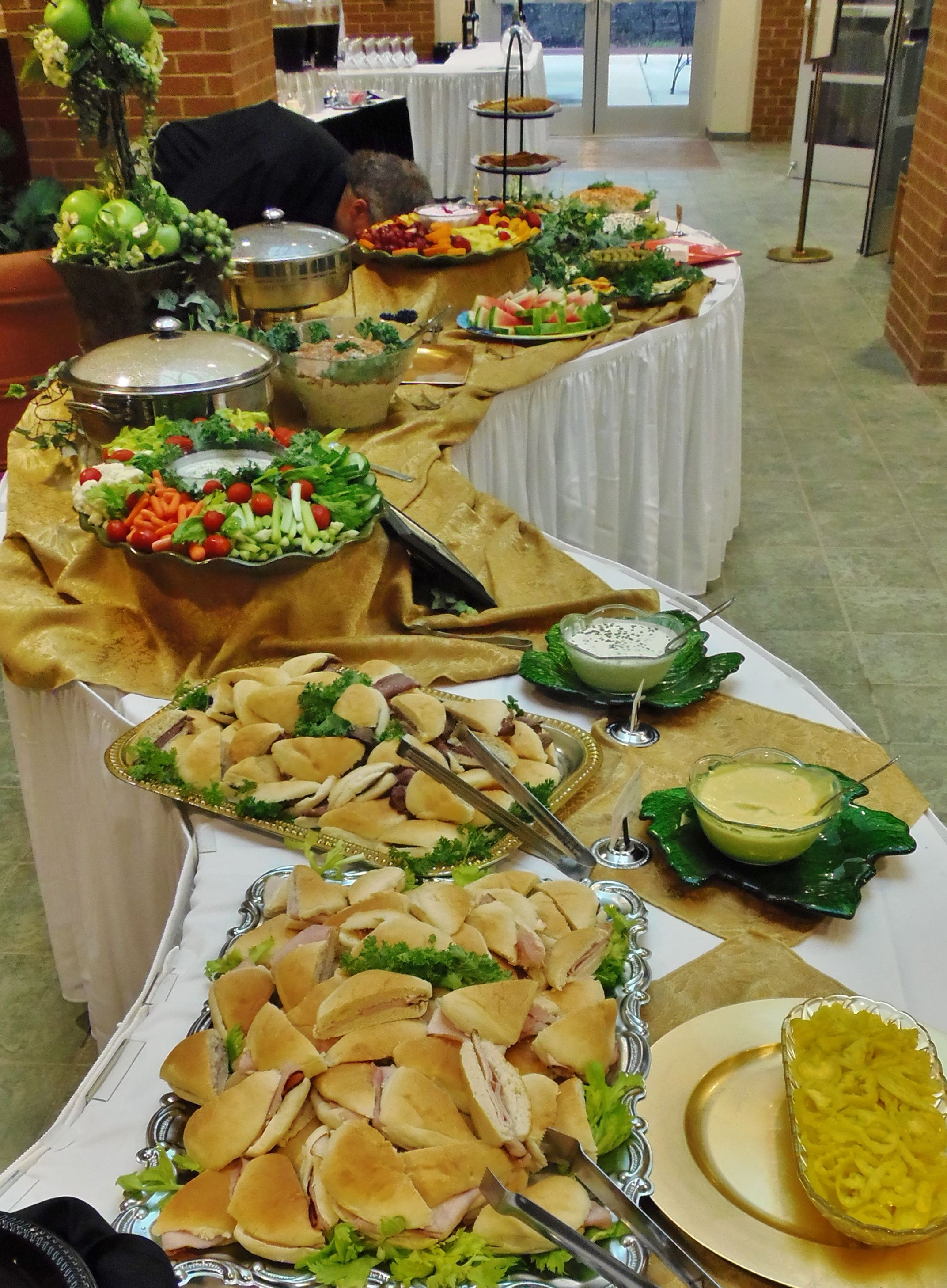 Buffet Party Catering For A Special Birthday Celebration Heavy Finger