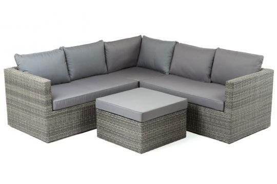 Villana Loungemöbel, anthrazit, Polyrattan, 5 Personen, inkl - loungemobel garten grau
