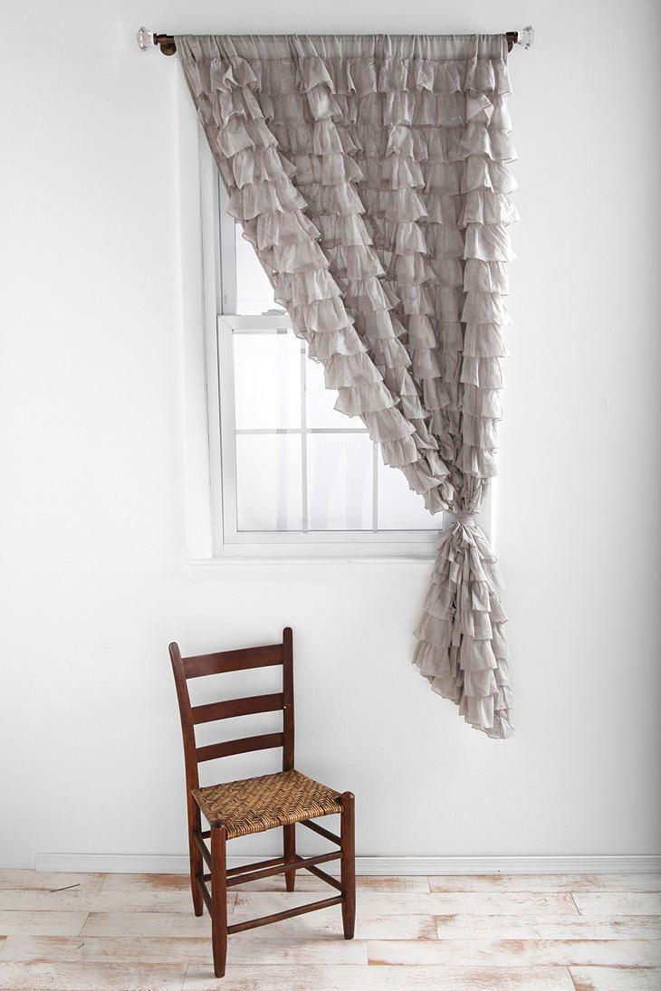 Waterfall Ruffle Curtain For the Home Pinterest Ruffled