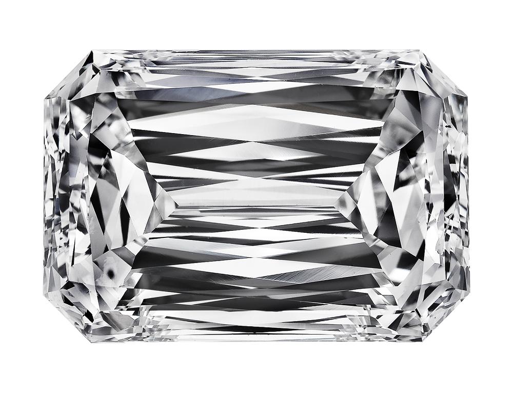 77 Facets Crisscut Emerald cut Diamond by Christopher Designs